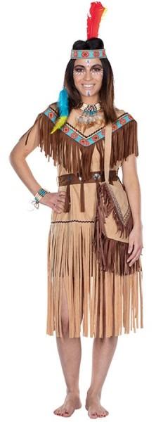 Solanka Indianerin Damenkostüm