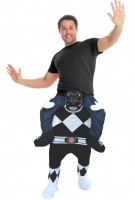 Black Power Ranger Huckepack Kostüm