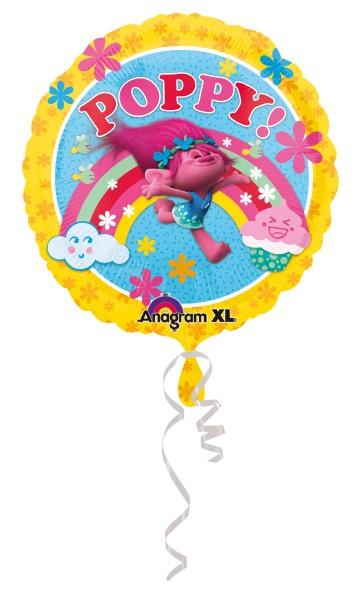Folienballon Trolls Poppy Regenbogen
