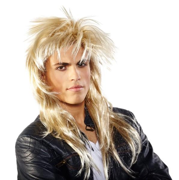 Punk pruik Johnny blond