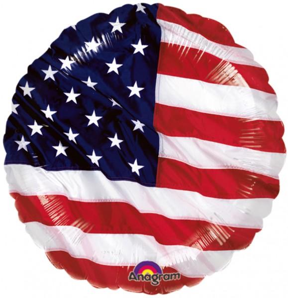 Round USA flag foil balloon