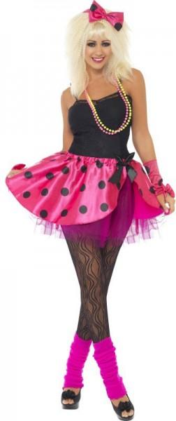 80s pink punk party ladies costume set