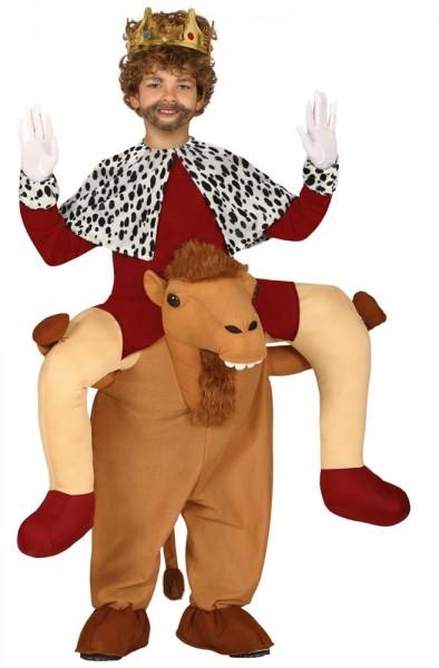 König auf Kamel Reiter Kostüm für Kinder