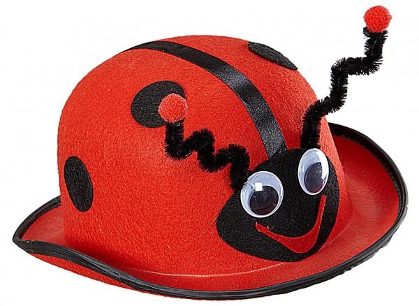 Rot-Schwarzer Marienkäfer Hut