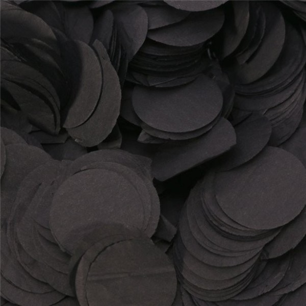 Konfetti papierowe Black Dots 100g