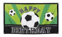 Banner Happy Birthday Fußball Party