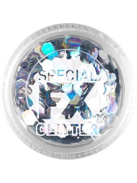 FX Special Glitter Hexagon silber 2g