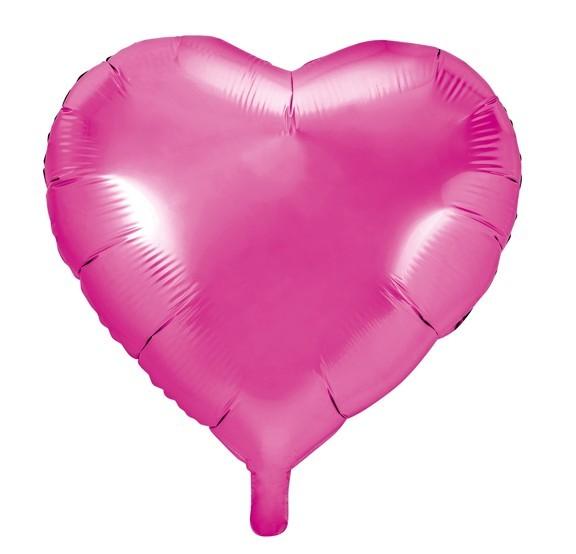 Herzilein Folienballon fuchsia 45cm