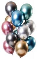 12 Latexballons Spiegel Effect bunt