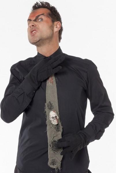 Cravate d'horreur crâne