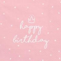 Vorschau: 20 My Birthday Servietten rosa 33cm