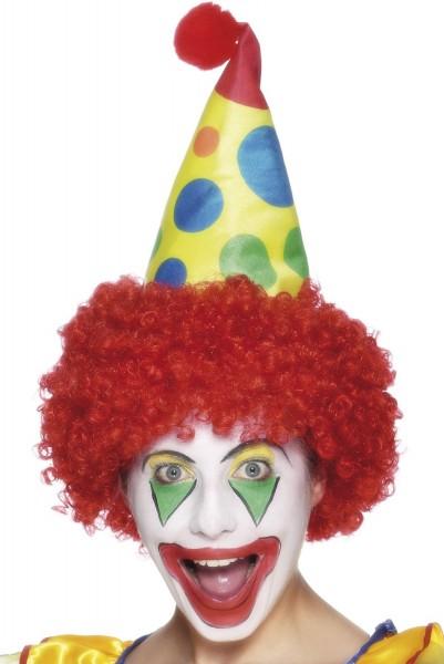 Rote Clowns Perücke Mit Hut