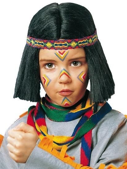 Indianer Perücke Für Kinder Mit Stirnband