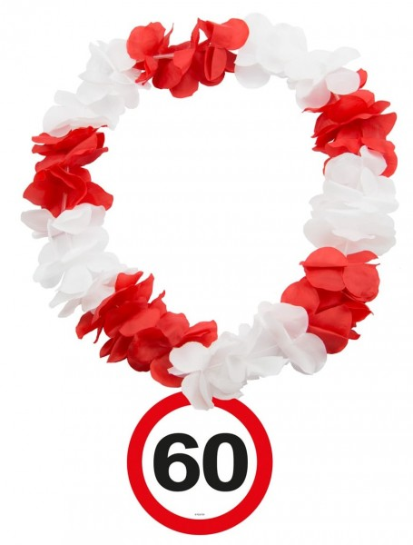 Traffic sign 60 Hawaiian chain