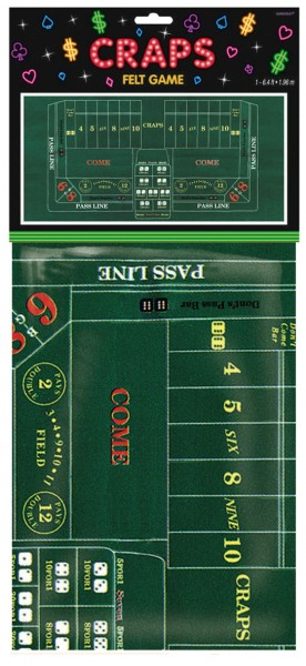 Mantel para campo de juego de ruleta Casino Royal 94x182cm