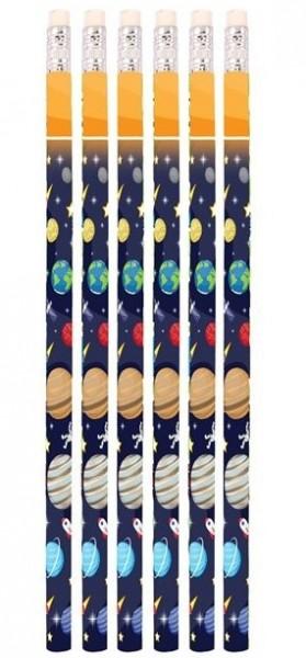 6 ołówków kosmicznych