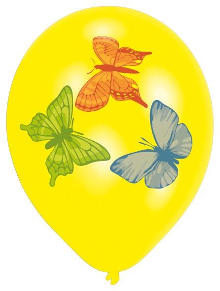8er Set Fly Like A Butterfly Luftballons