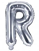 Folienballon R silber 35cm