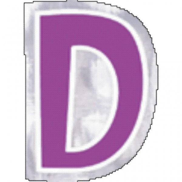 48 balloon stickers letter D.