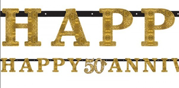 Sparkling 50 Years letters garland