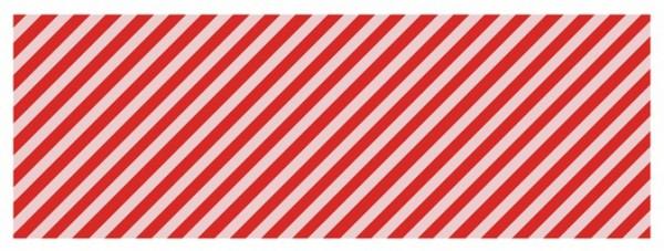 Papier cadeau rayé rouge et blanc 2m x 70cm