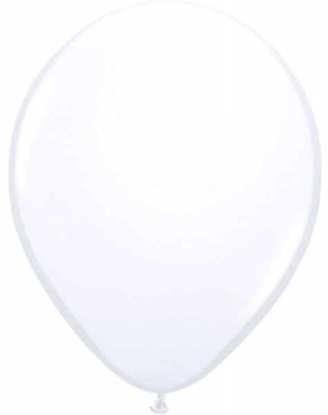 20 balloons party decoration white 13cm