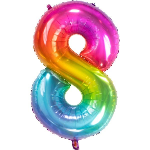 Balon foliowy numer 8 Super Rainbow 86cm