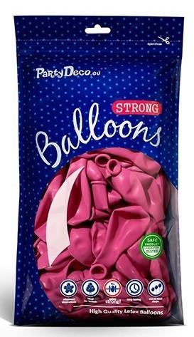 100 globos estrella de fiesta rosa 12cm