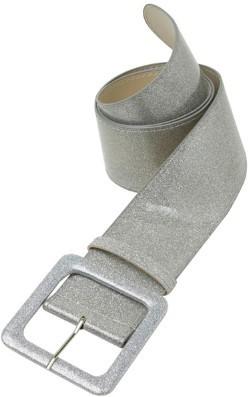 Silberner Disco Glitzergürtel