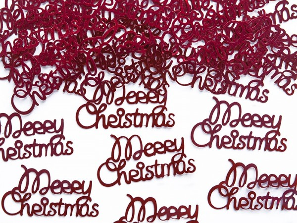 Red Merry Christmas Foil Confetti 3g