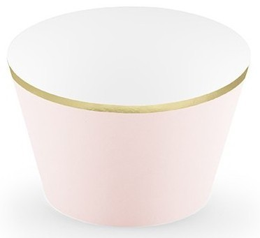 6 One Star Cupcake borders pink