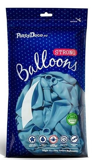 10 balonów Partystar pastelowy niebieski 27cm