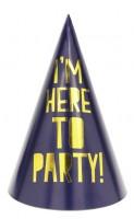 Vorschau: 6 Partynacht Get Toasty Hüte 15,5cm