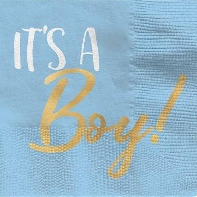 16 It's a Baby Boy servetten 25 cm
