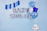 Folienballon E silber 35cm