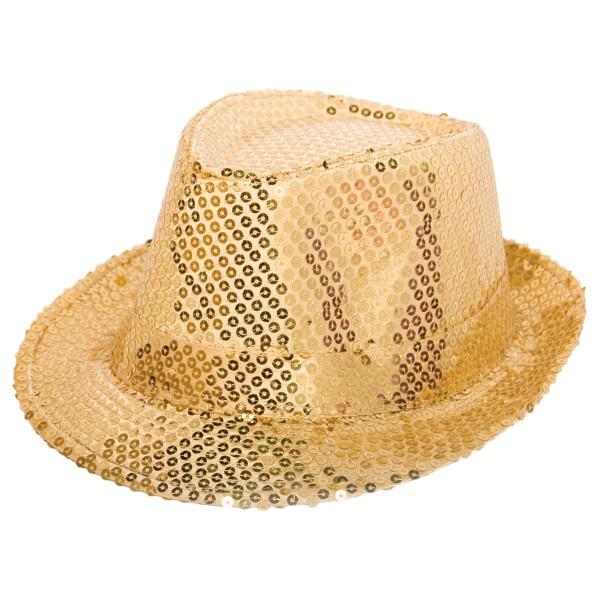 Pailletten Hut gold Deluxe