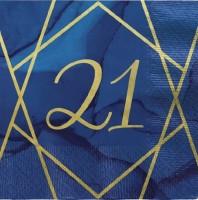 16 Luxurious 21st Birthday Servietten 33cm