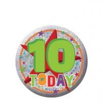 10 Today Geburtstags Button holografisch 5,5cm