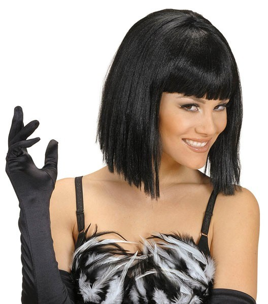 Black page head wig
