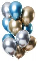 12 Latexballons Spiegel Effect Sapphire