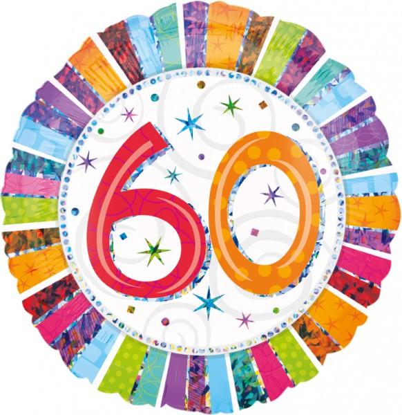 Colourful 60th Birthday Ballon 45cm