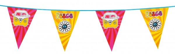 Hippie Peace Wimpelkette 6m