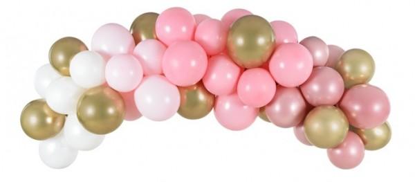Rosa Ballongirlande Rosy Blossom