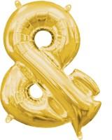 Mini Folienballon &-Zeichen gold 35cm