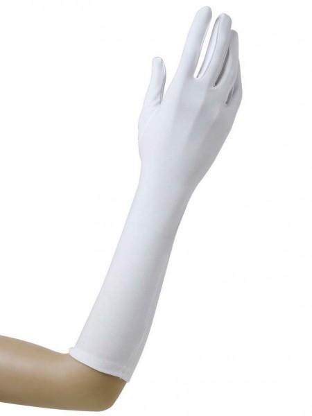 Elegante Weiße Handschuhe Lang