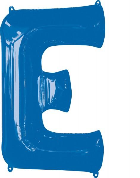 Foil balloon letter E blue XL 81cm