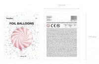 Vorschau: Candy Party Folienballon hellrosa 45cm