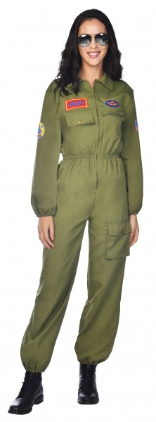Déguisement pilote de chasse Navy pour femme