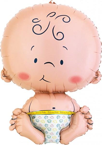 Folienballon Sitzendes Baby XL