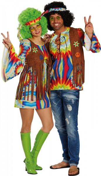 Grand costume de batik hippie pour femme